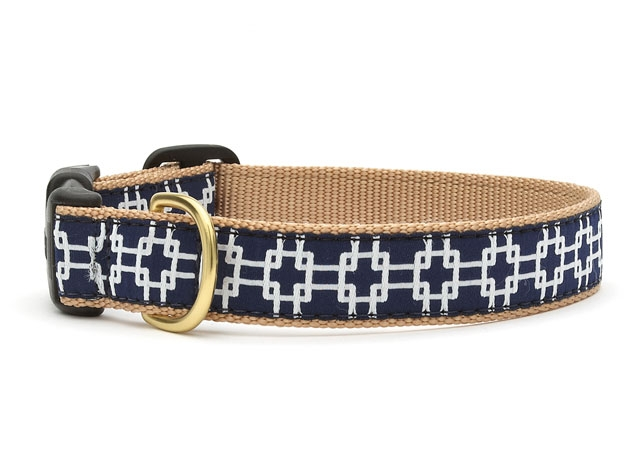 "Dog Collars: 5/8"" or 1"" Wide Gridlock Collar"
