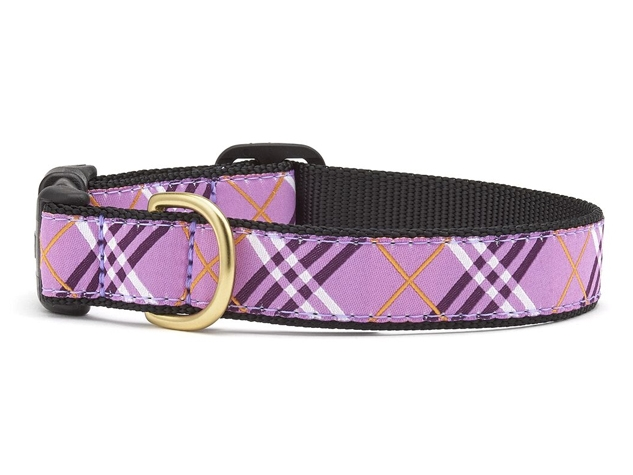 "Dog Collars: 5/8"", 1"" or 1.5"" Wide Lavender Lattice Collar"
