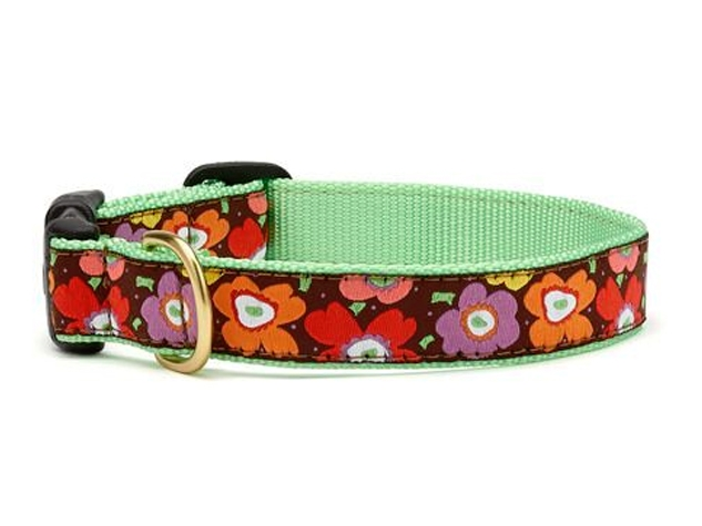 """Dog Collars: 5/8"""" or 1"""" Wide Mod Floral Collar"""
