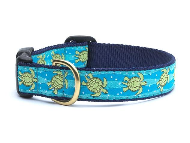"""Dog Collars: 5/8"""" or 1"""" Wide Sea Turtle Collar"""