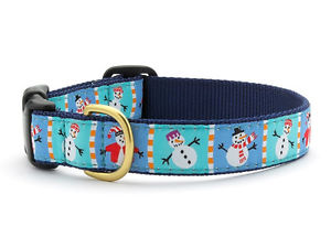 "Dog Collars: 5/8"" or 1"" Wide Holiday, Snowmen Collar"