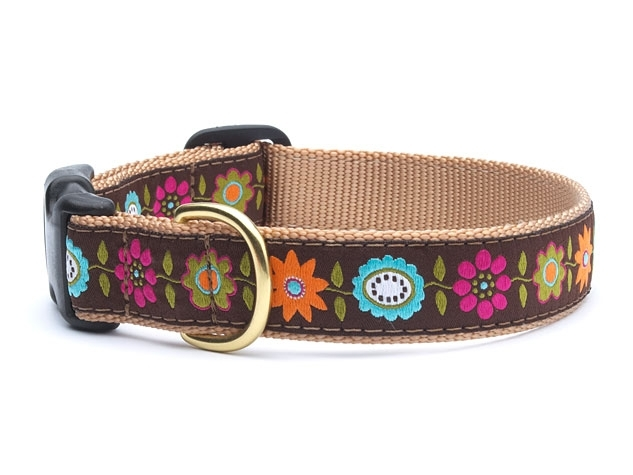 "Dog Collars: 5/8"" or 1"" or 1.5"" Wide Bella Floral Clip Collar"