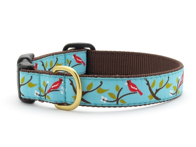 "Dog Collars: 5/8"" or 1"" Wide Cardinal Clip Collar"