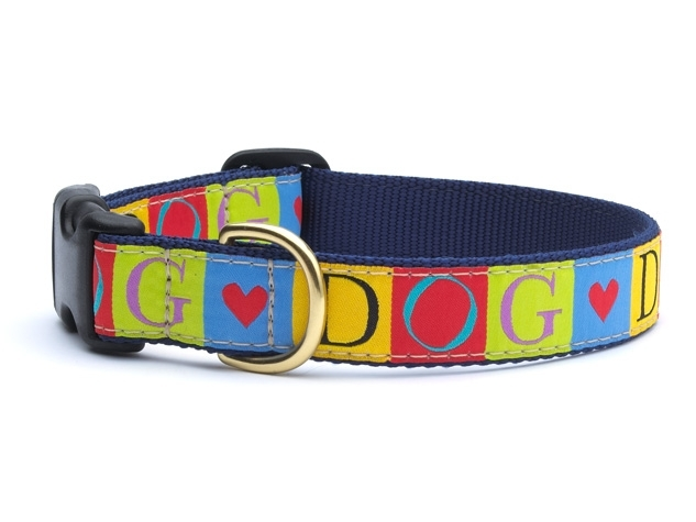 "Dog Collars: 5/8"" or 1"" Wide Dog Love Clip Collar"