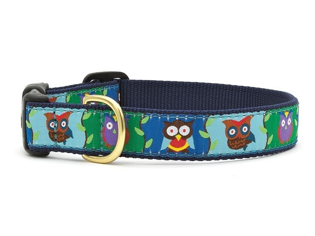 """Dog Collars: 5/8"""" or 1"""" Wide Owls Clip Collar"""