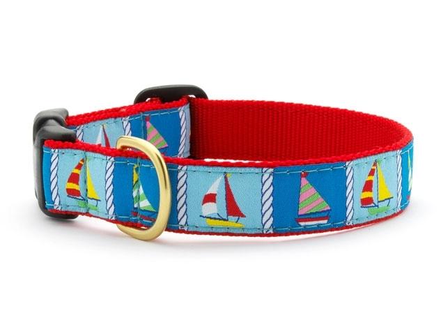 "Dog Collars: 5/8"" or 1"" Wide Sailing Fleet Clip Collar"