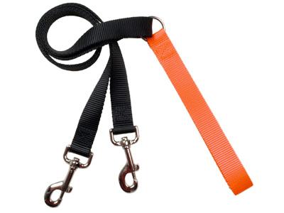 4-Configuration Freedom Training Leash: Matches Neon Orange Harn