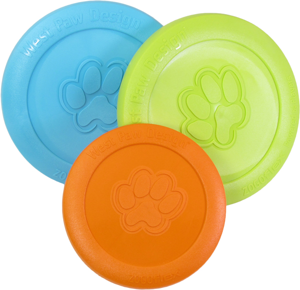 Dog Toy: Zisc Flyer Available in Two Sizes & 4-Colors