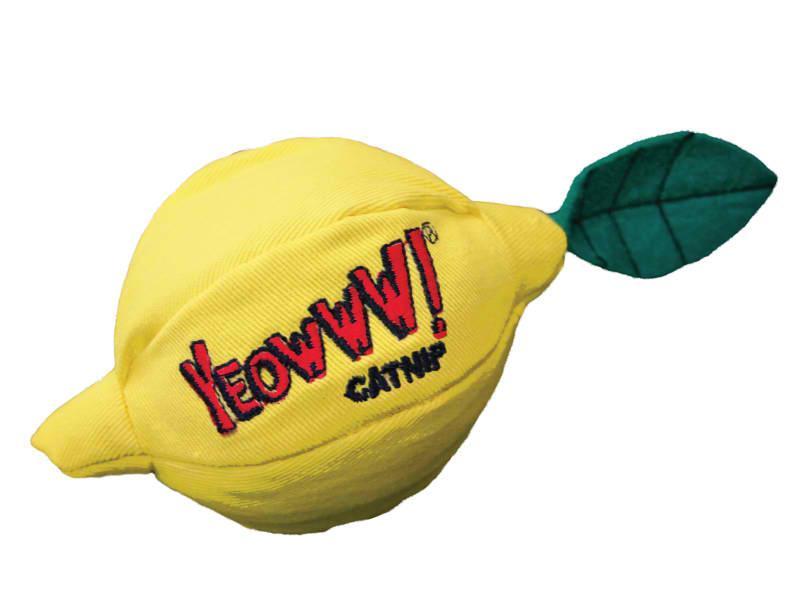 Cat Toy:  YEOWWWWW Lemon Organic Catnip Toy