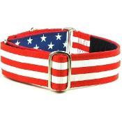 """Dog Collars:  USA Grand Old Flag 1.5"""" Wide"""