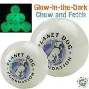 Dog Toy: Glow for Good Ball Available in 2 Sizes