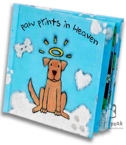 Sympathy:  Paw Prints in Heaven Hardcover Book