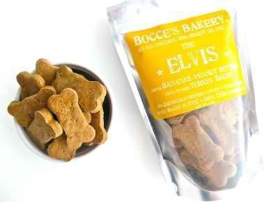 Treats:  Bocce's Bakery Peanut Butter & Bacon