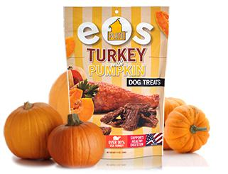 Treats:  EOS Turkey & Pumpkin Grain Free