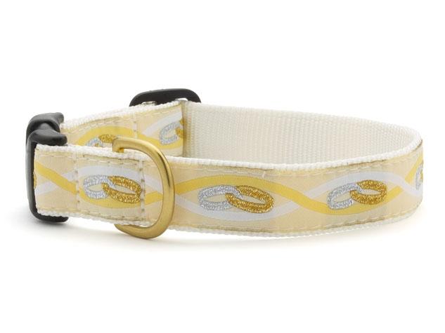 "Dog Collars: 5/8"" or 1"" Wide Wedding, Eternity Clip Collar"
