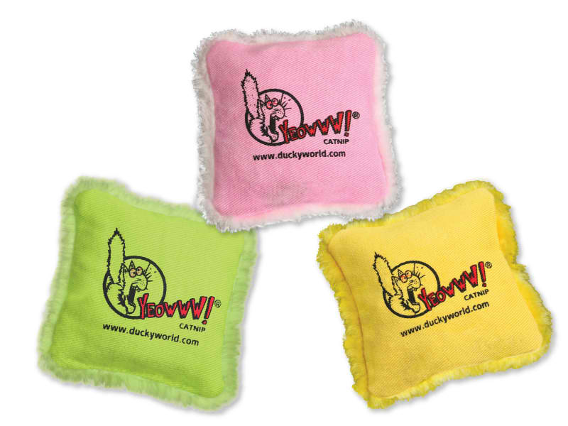 Cat Toy: Pillow Yeowww! Stuffed with Organic Catnip