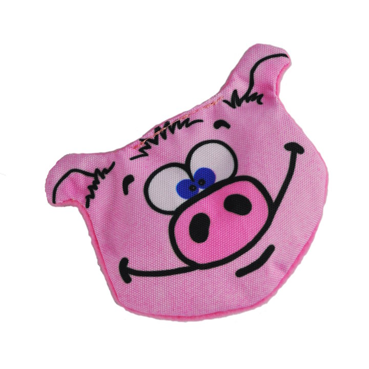 Dog Toy: Pokey Pig Crinkle Cordura Dog Toy (no Squeaker)