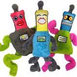 Dog Toy:  Cycle Dog Duraplush Springy Bots Dog Toy