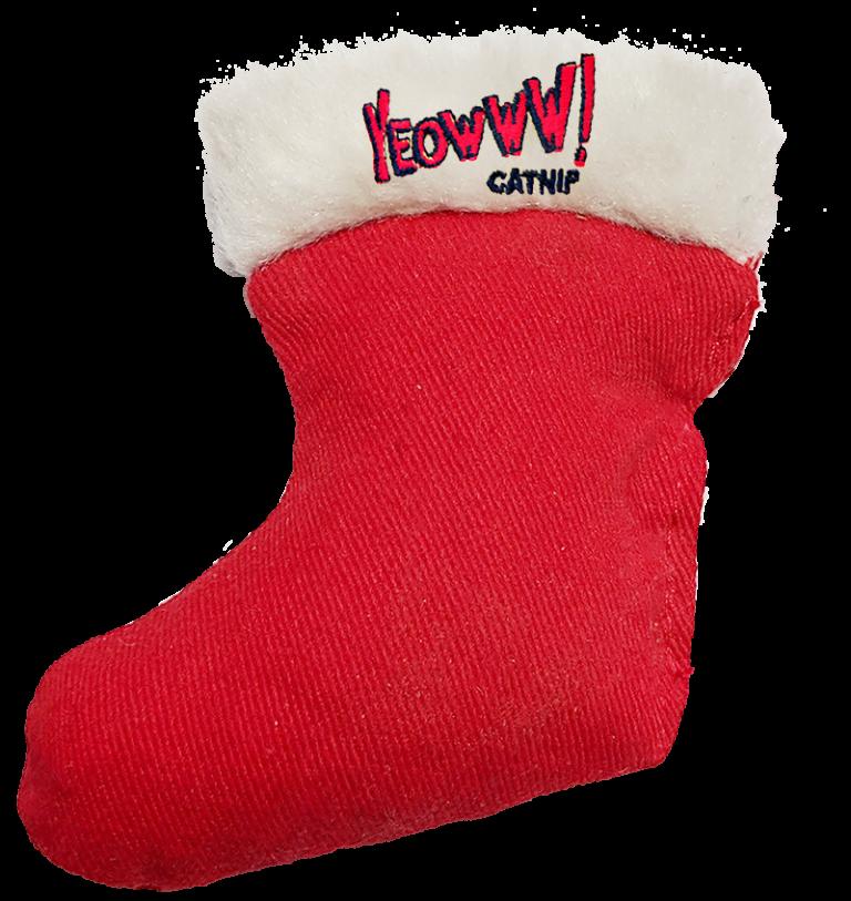 Cat Toy:  Holiday Stocking Toy Yeowww! Stuffed with Organic Catnip