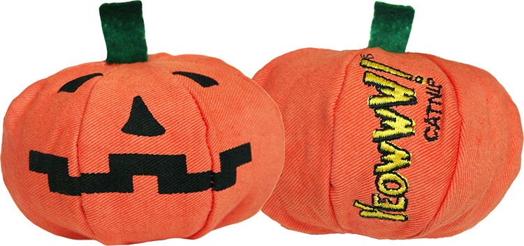 Cat Toy:  Pumpkin Yeoww-loWeen Organic Catnip Toy