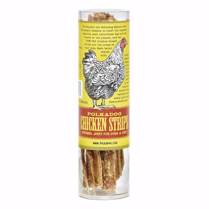 Treats:  PolkaDog 100% Chicken Strips Tube