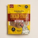 Treats:  PolkaDog 100% Chicken Strips Shorties