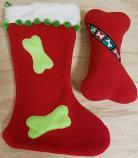 Dog Toy: Christmas Stocking and Squeaker Bone Dog Toy