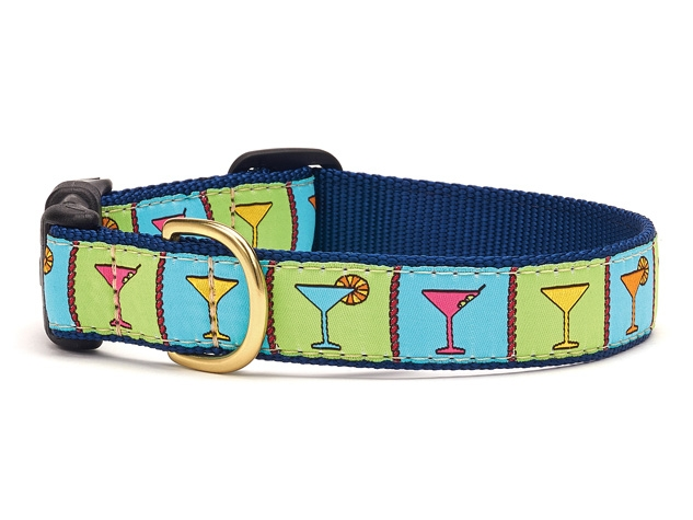 "Dog Collars: 5/8"" or 1"" Wide Martini Clip Collar"