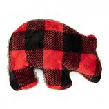 Dog Toy: Merry Grizzly Squeaker Toy in Red Plaid