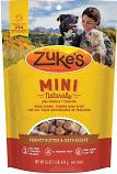 Treats:  Zukes Mini Natural Peanut Butter Semi-Moist Treat 6 oz bag