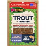 Treats:  K-9 Granola Trout with Pumpkin Single Source 8 oz