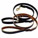 """Lead/Leash: Latigo Leather Twist, 6' or 4' Long, in 3/8"""", 5/8"""", 3/4"""" or 1"""" widths"""